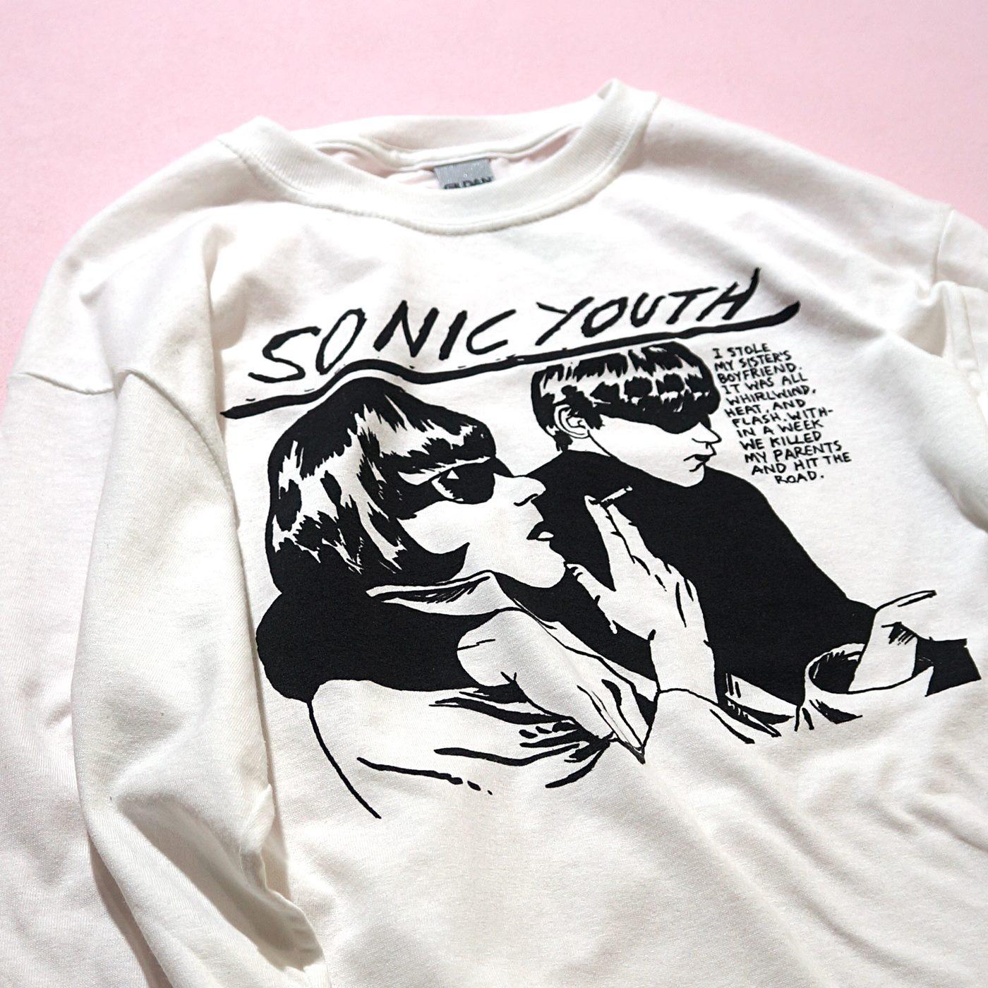 SONIC YOUTH ロングスリーブTシャツ Goo-White
