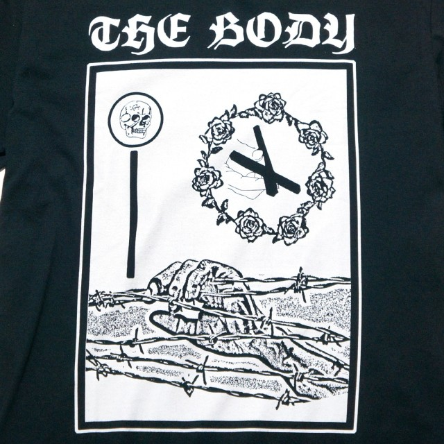 THE BODY バンド Tシャツ Barbed Wire-Black