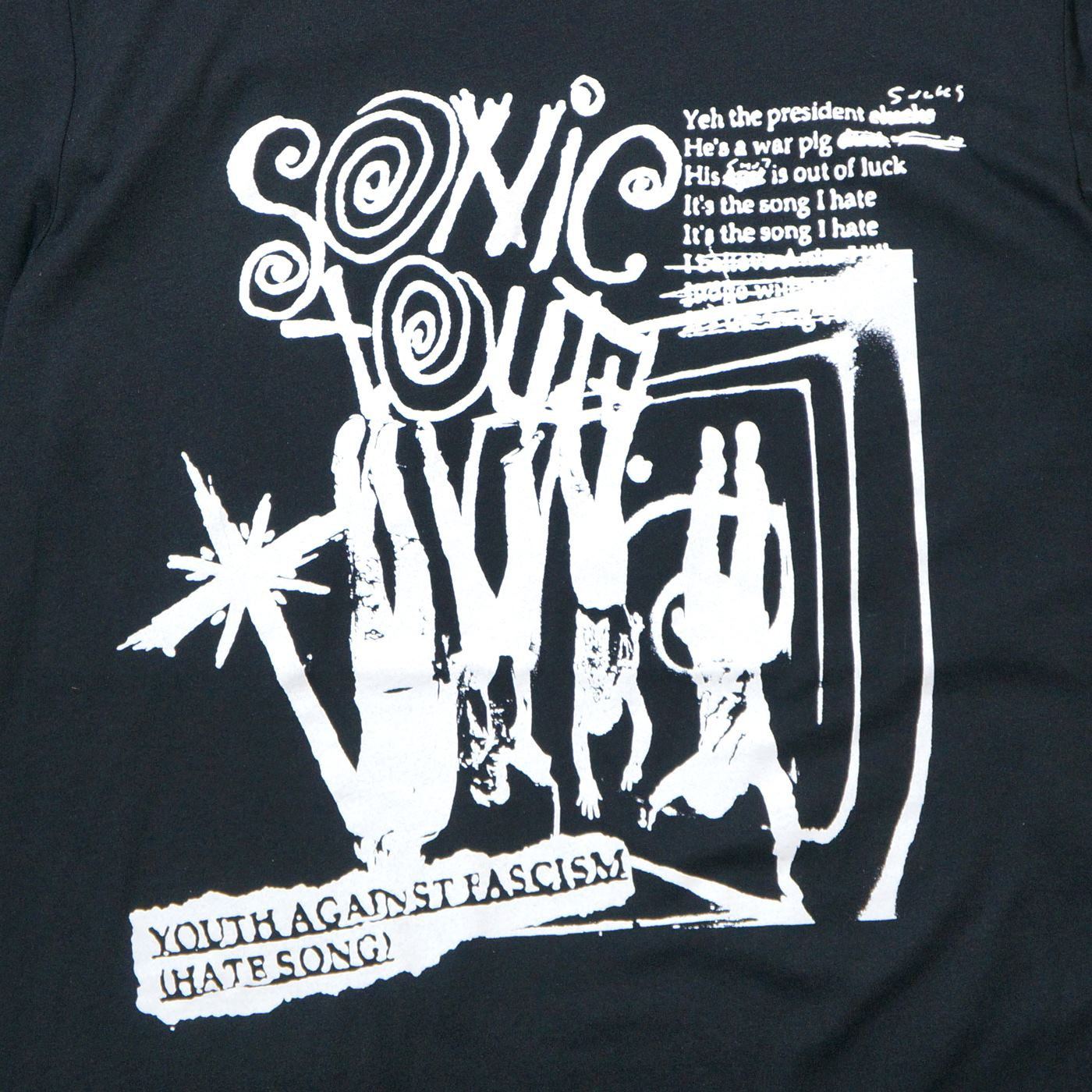 SONIC YOUTH Tシャツ Youth Against Fascism-Black