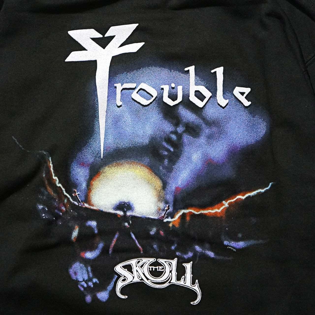 TROUBLE バンド ジップアップ・パーカー The Skull-Black