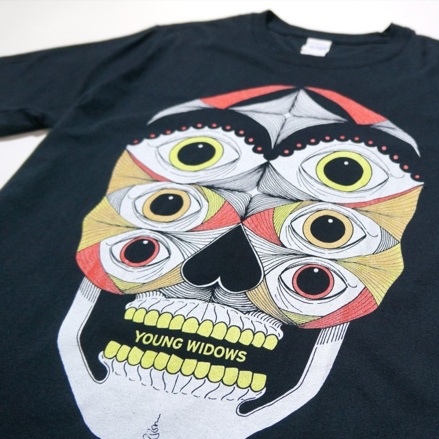 YOUNG WIDOWS Tシャツ Old Wounds Full Color-Black