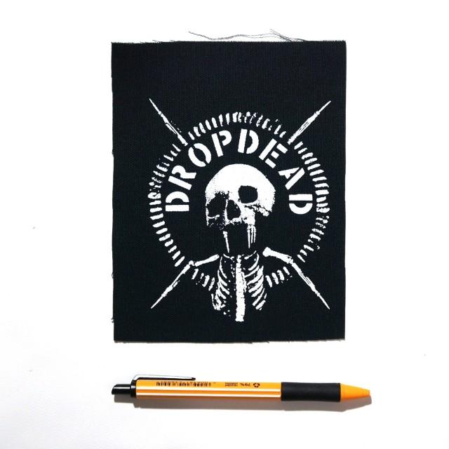 DROPDEAD バンド 布パッチ - Skull