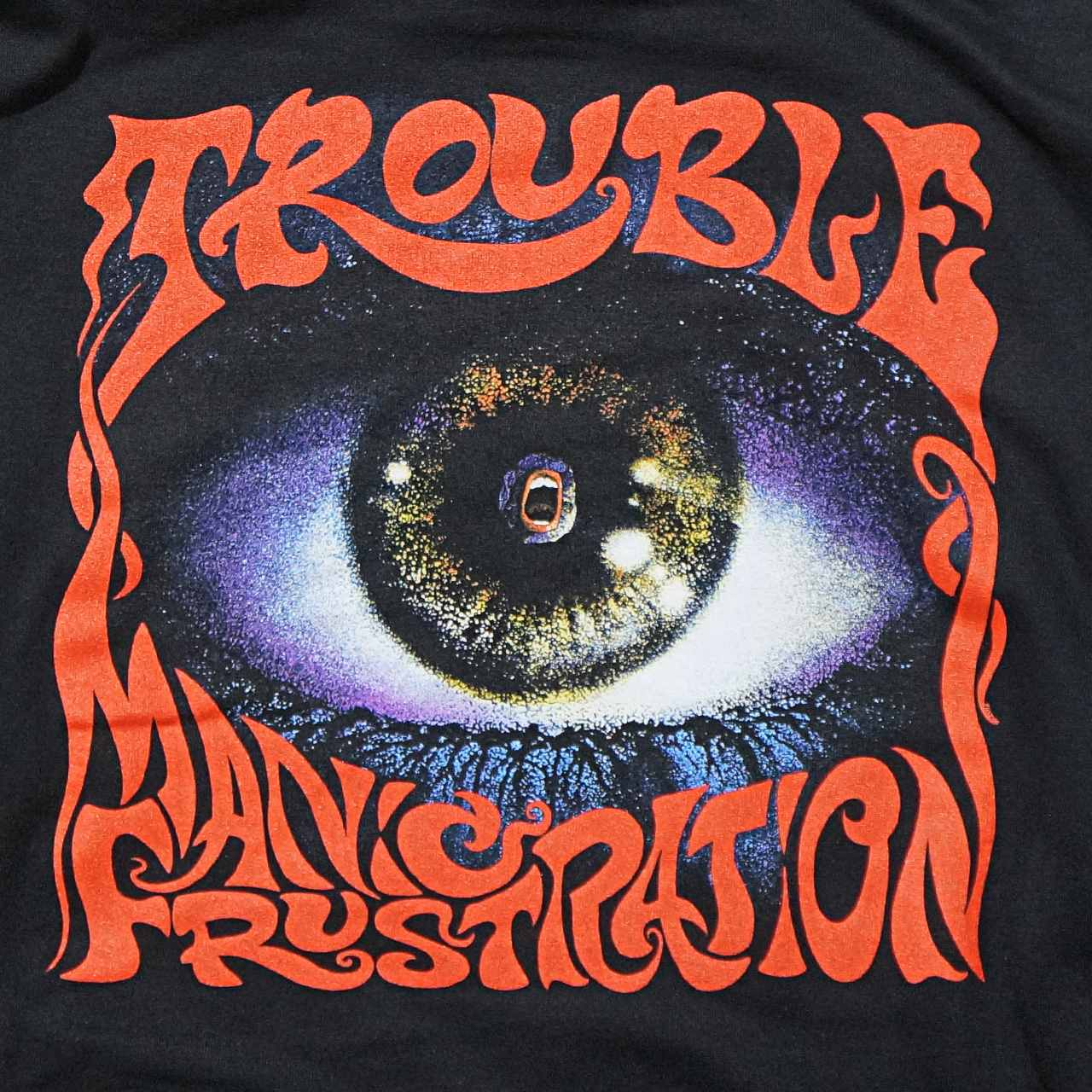 TROUBLE バンド パーカー Manic Frustration-Black