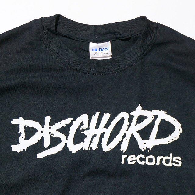 Dischord Records Tシャツ オフィシャル/Old Logo Black-White