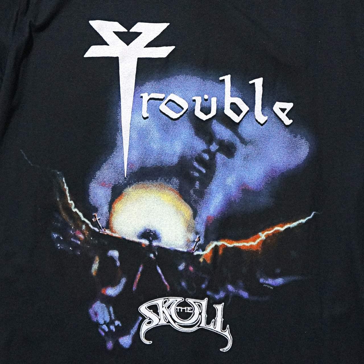 TROUBLE バンド Tシャツ The Skull-Black