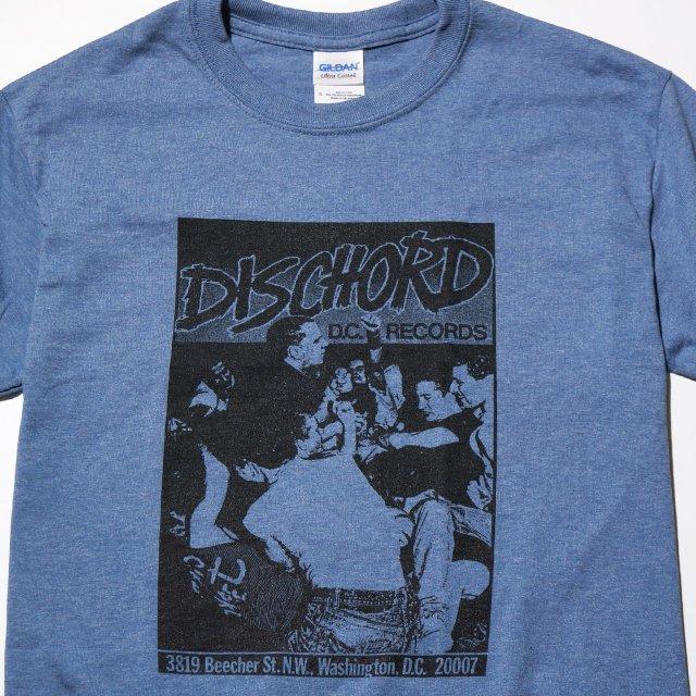 DISCHORD RECORDS Tシャツ / 1st - Heather Indigo/Black