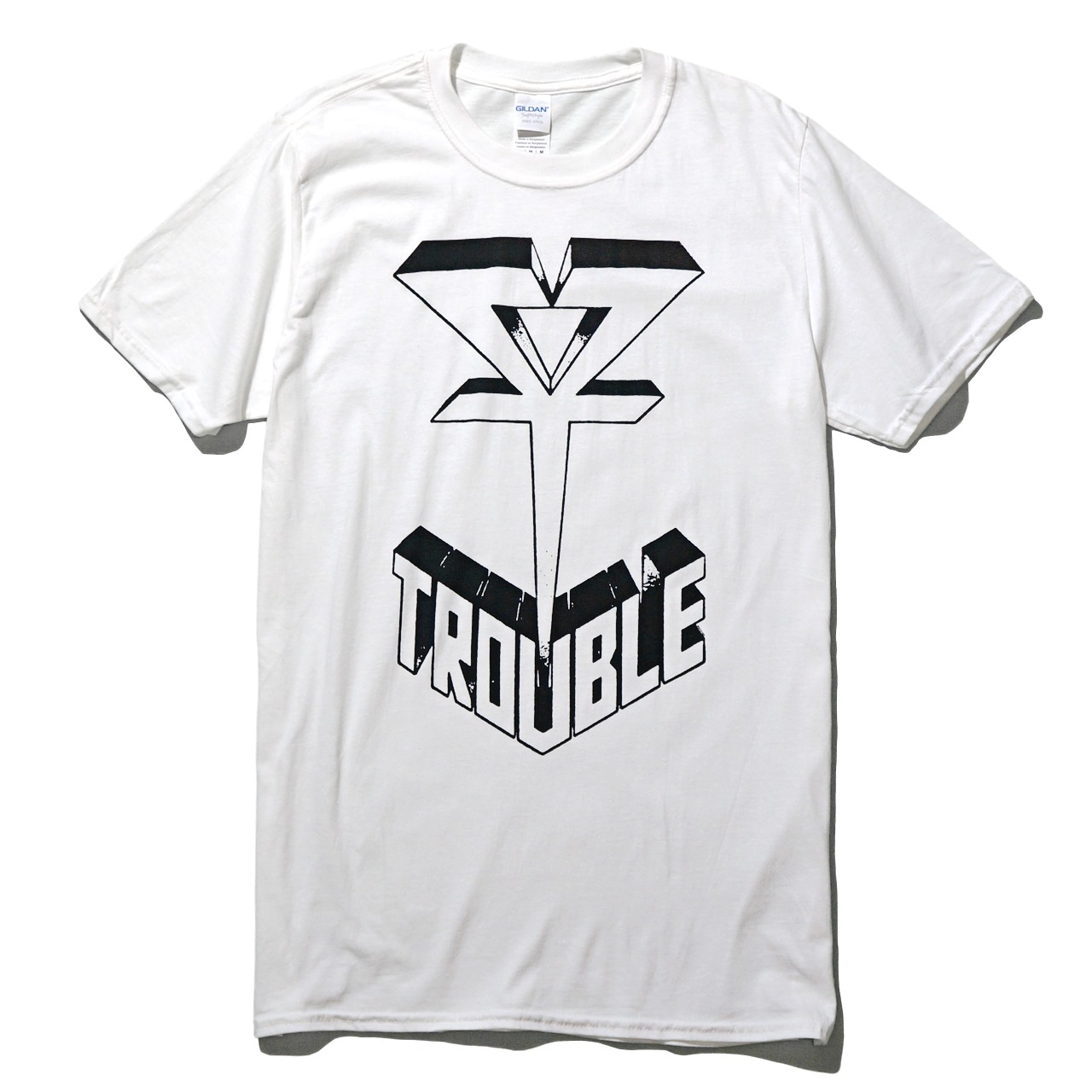 TROUBLE バンド Tシャツ Logo-White