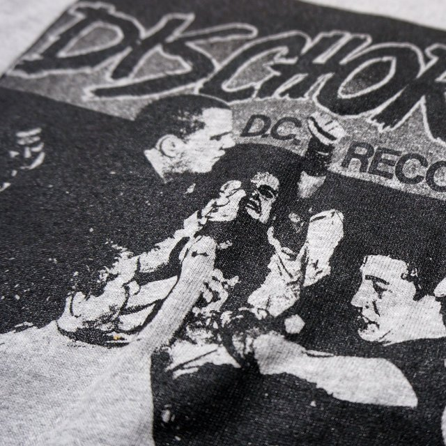 DISCHORD RECORDS Tシャツ/1st -Sport Grey/Black