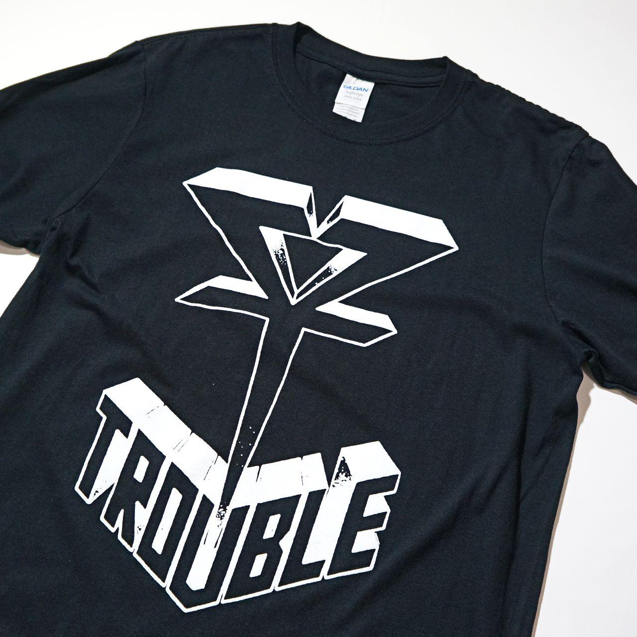 TROUBLE バンド Tシャツ Logo-Black