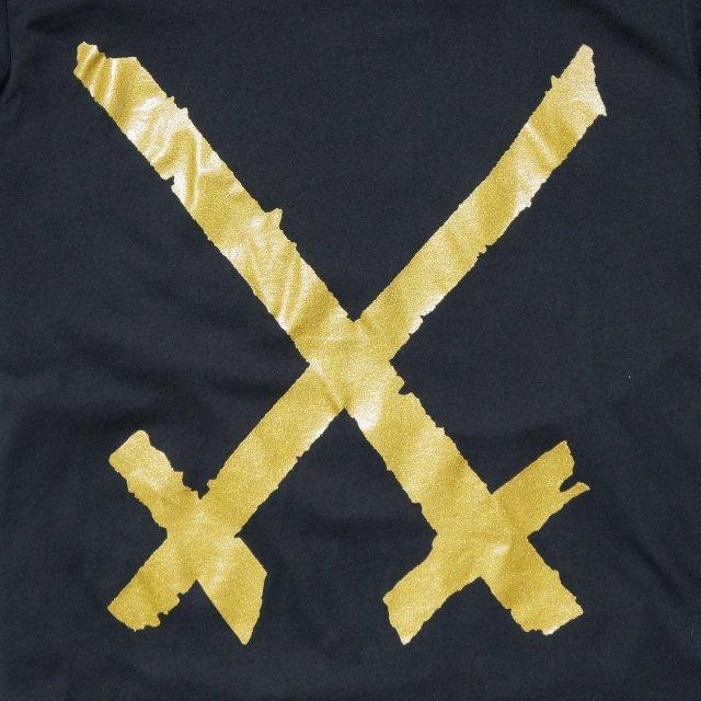 Xiu Xiu Tシャツ Gold Logo-Black