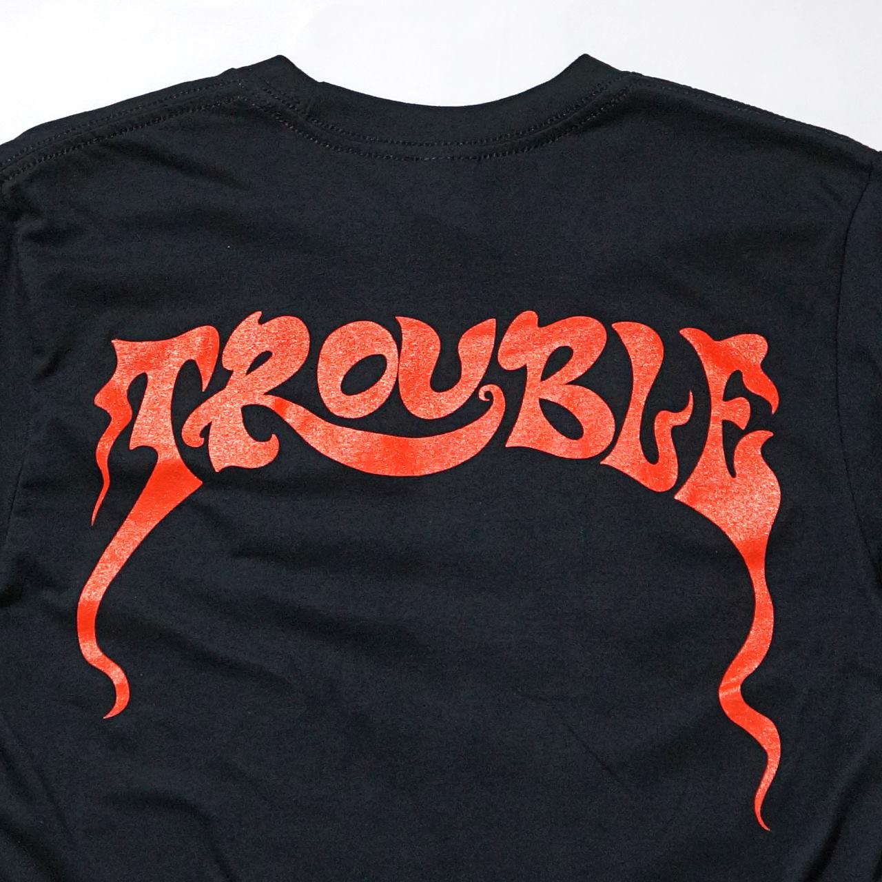 TROUBLE バンド Tシャツ Manic Frustration-Black