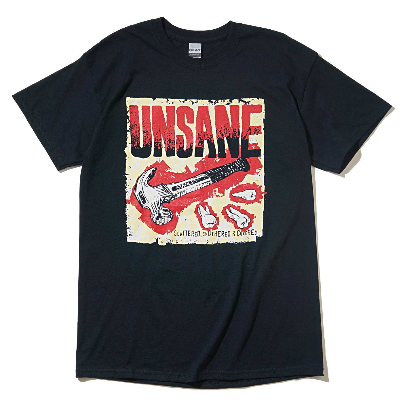 UNSANE Tシャツ Scattered Smothered & Covered