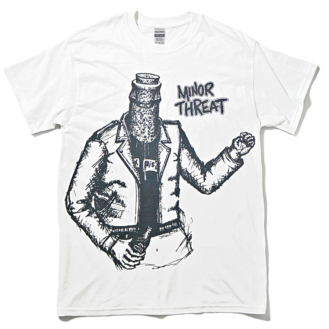 MINOR THREAT Tシャツ Bottle Man