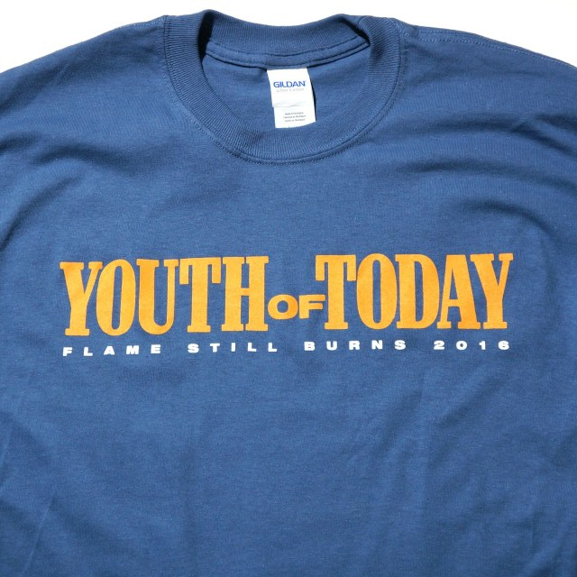 YOUTH OF TODAY ロングスリーヴTシャツ Flame Still Burns - Blue