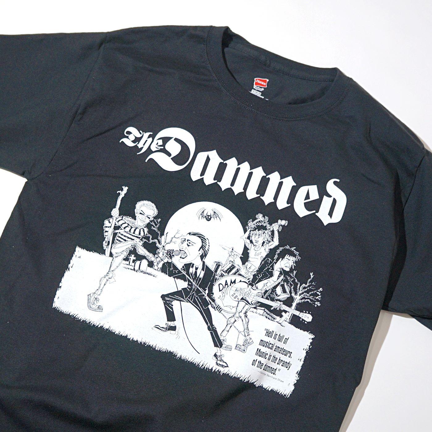 DAMNED Tシャツ Cartoon-Black
