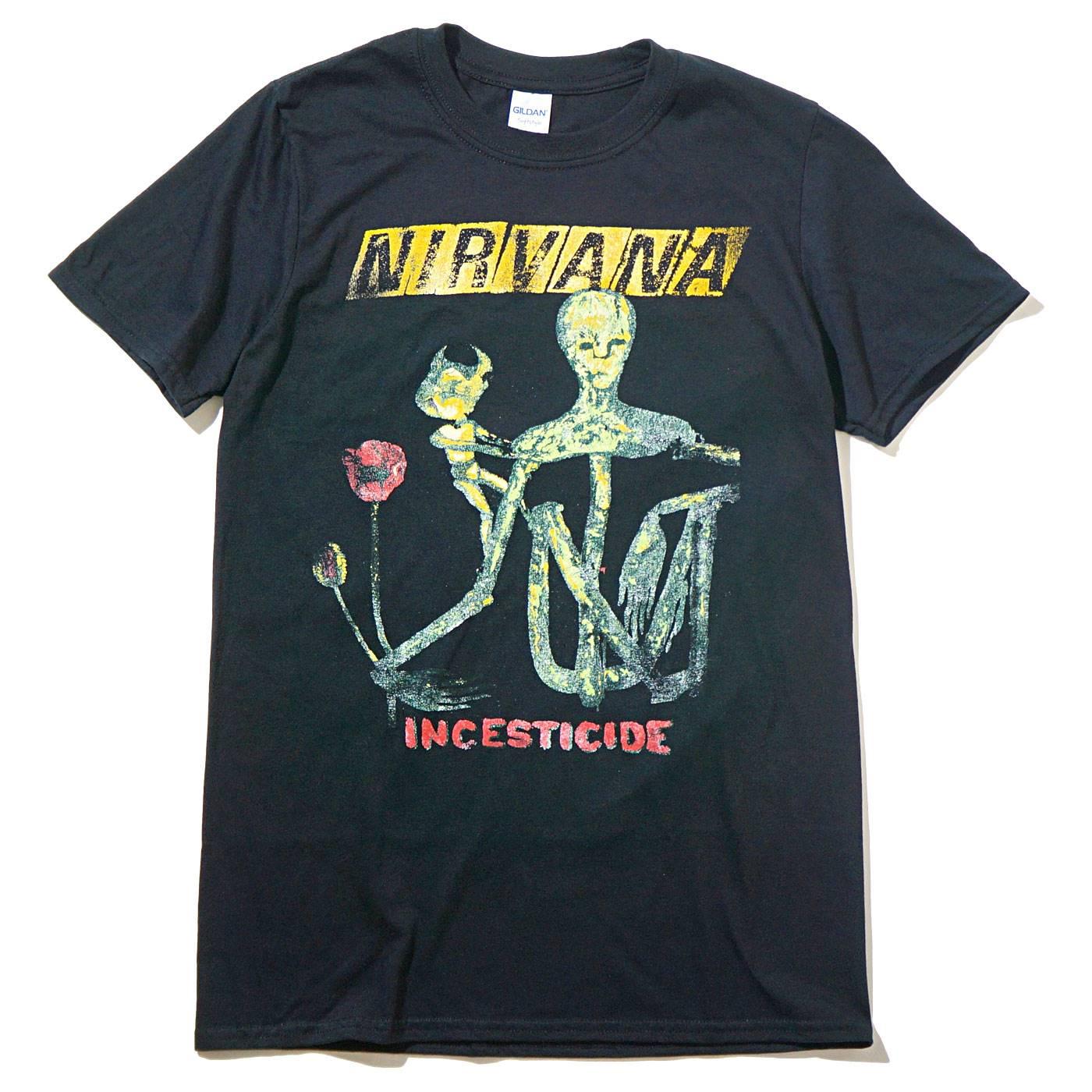 NIRVANA Tシャツ Reformant Incesticide-Black