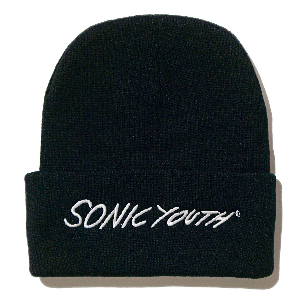 SONIC YOUTH ビーニー ニットキャップ White Logo
