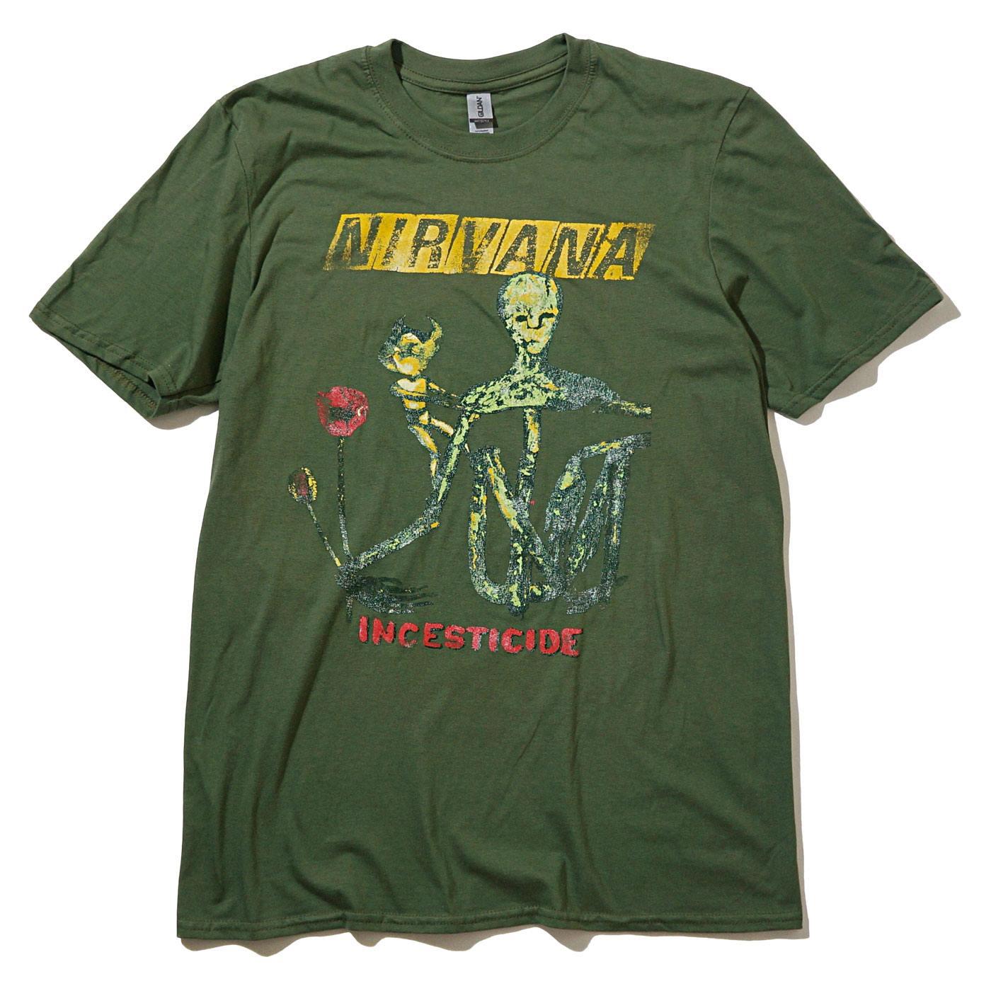 NIRVANA Tシャツ Reformant Incesticide-Green