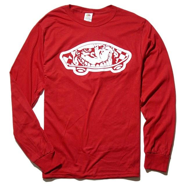 GORILLA BISCUITS ロングスリーブTシャツ Skateboard - Red