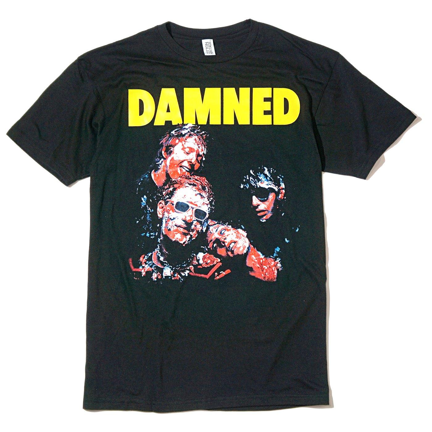 DAMNED Tシャツ Damned Damned Damned-Black
