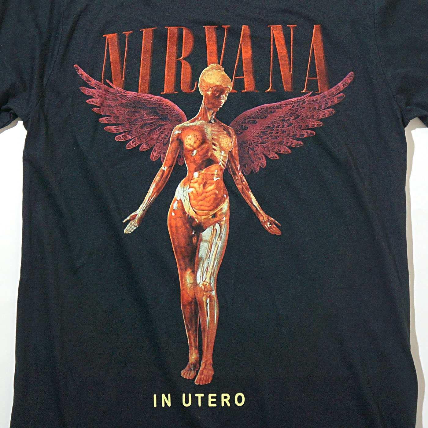 NIRVANA Tシャツ In Utero-Black