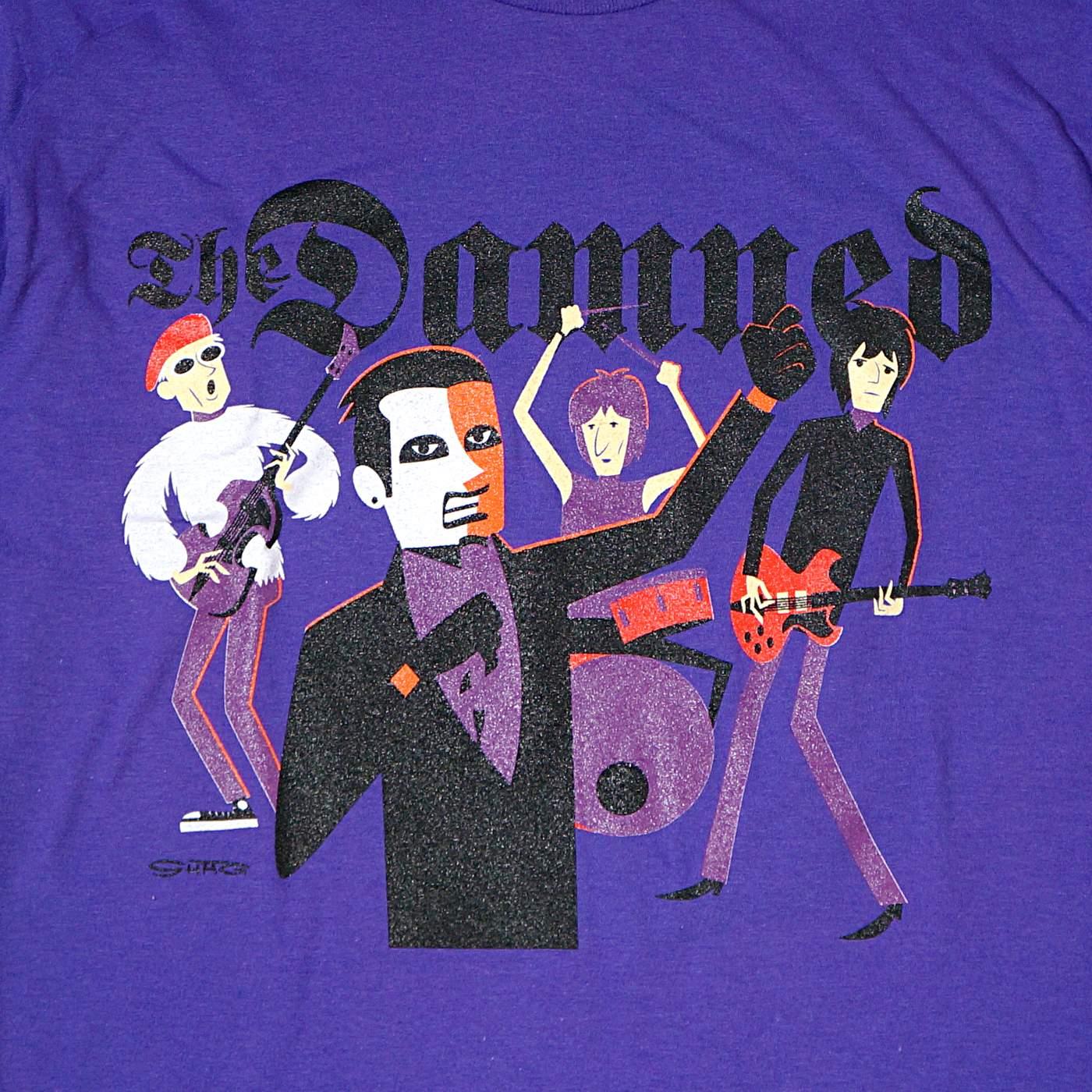 DAMNED x SHAG Tシャツ Original Lineup-Purple