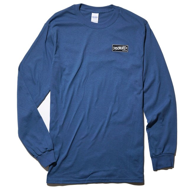 Dischord Records ロングスリーブTシャツ / Box Logo - Indigo Blue