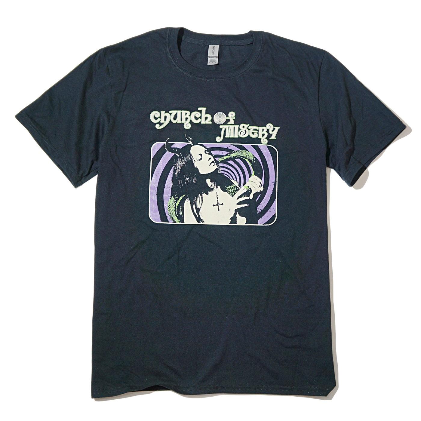 CHURCH OF MISERY Tシャツ Snake Girl-Black
