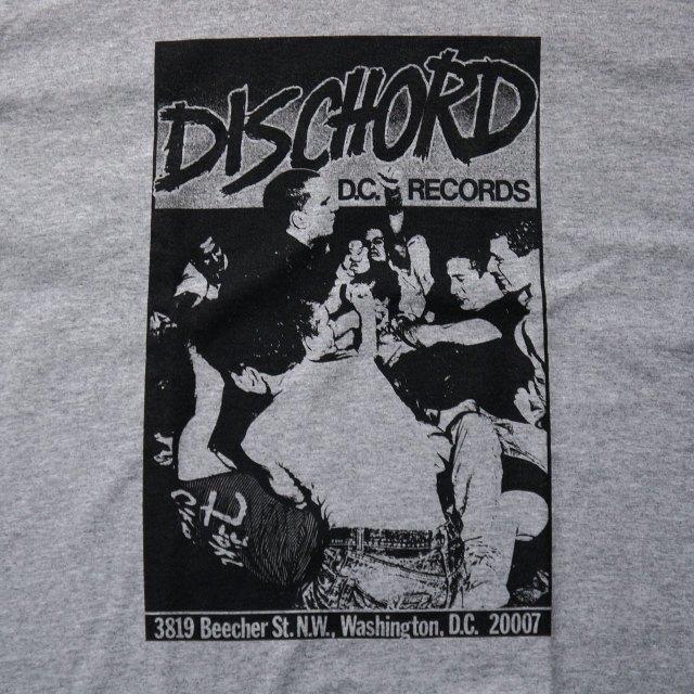 Dischord Records ロングスリーブTシャツ 1st - Sport Grey
