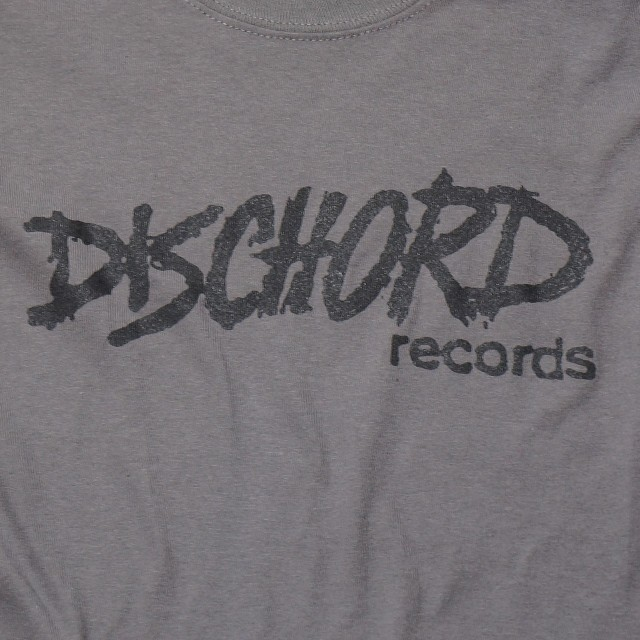 Dischord Records ロングスリーブTシャツ /Old Logo- Charcoal