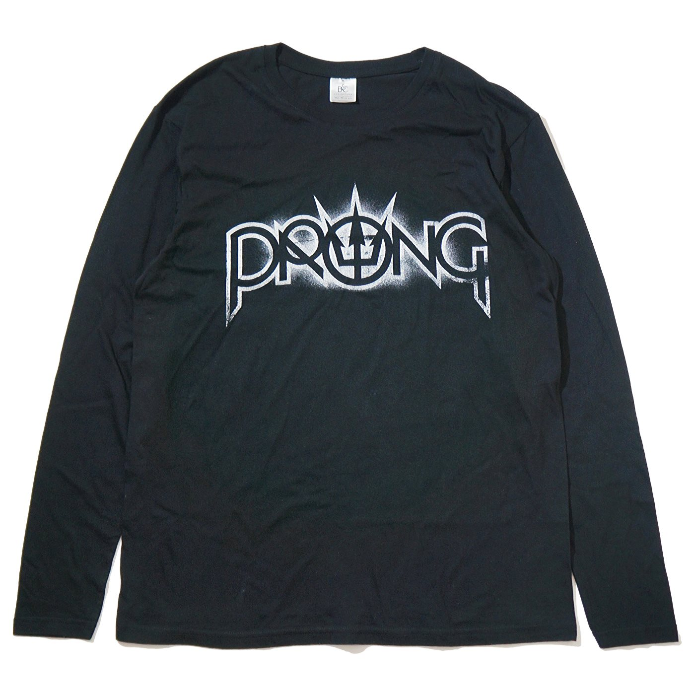PRONG ロングスリーブTシャツ White Logo-Black
