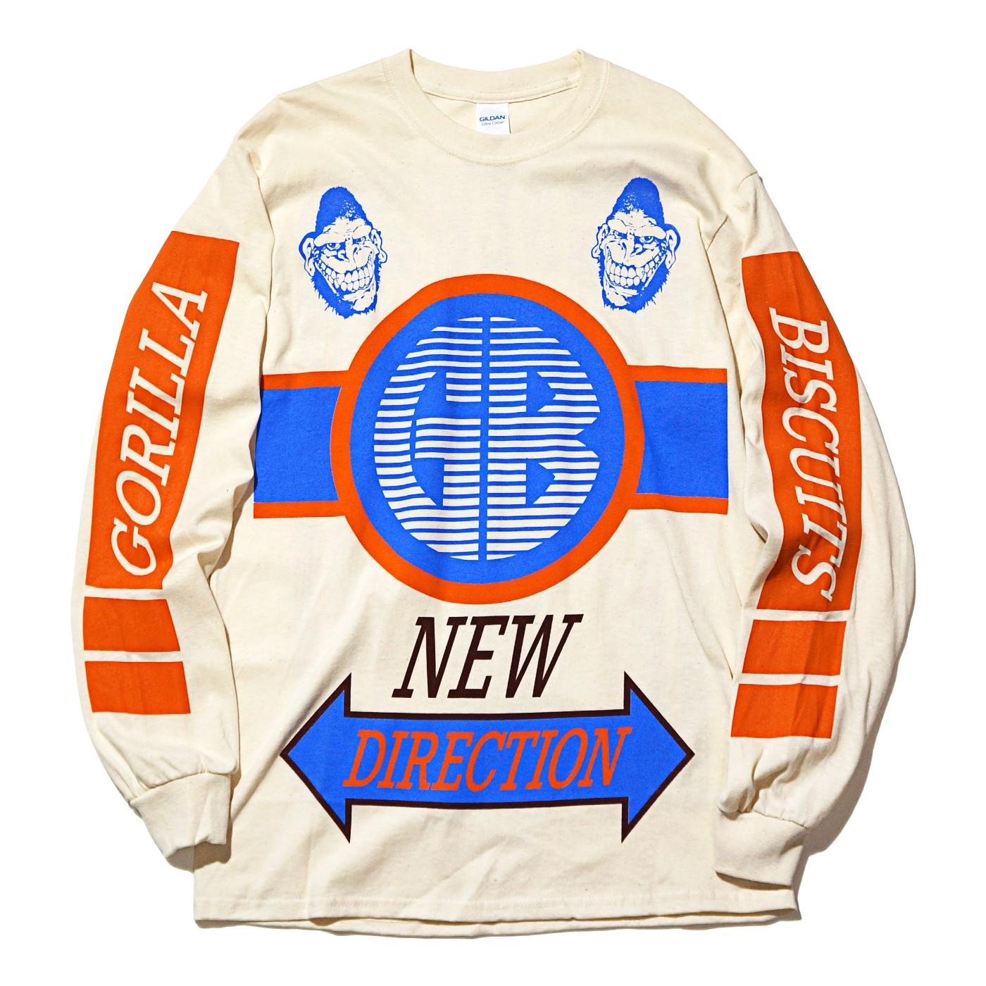 GORILLA BISCUITS ロングスリーブTシャツ BMX -Natural