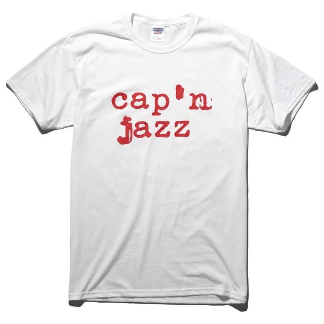 Cap'n Jazz Tシャツ Red Logo-White