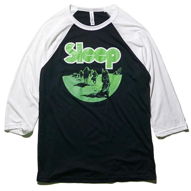 SLEEP ラグランTシャツ Lungsmen Raglan -White/Black