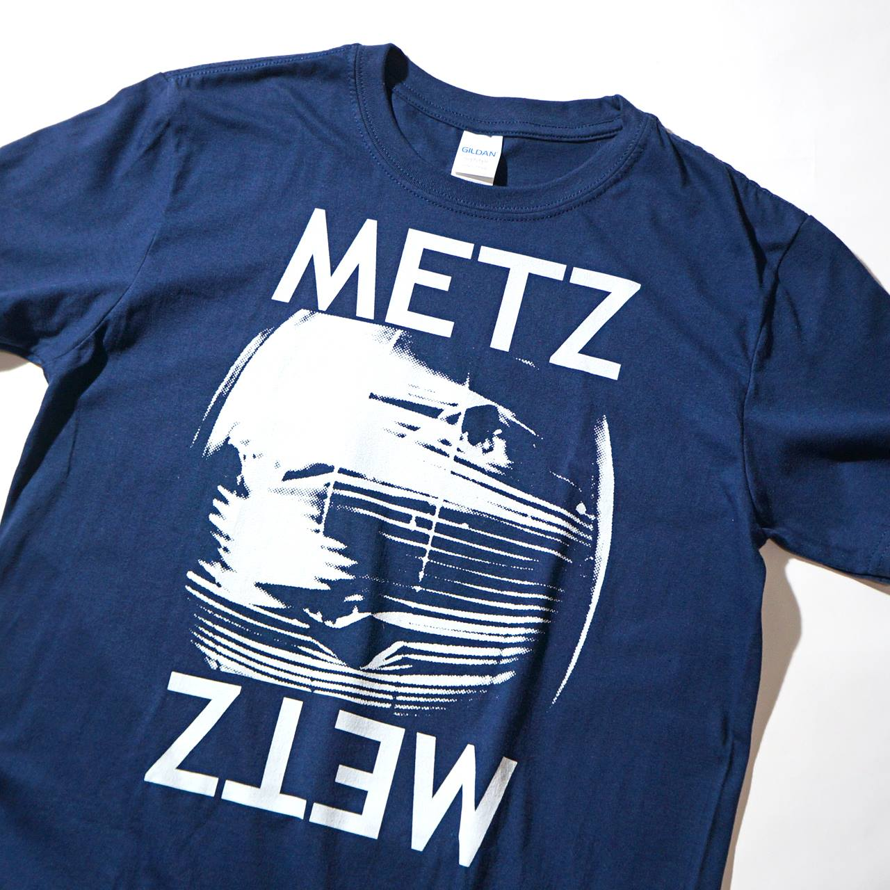 METZ (メッツ) バンド Tシャツ Blind-Navy