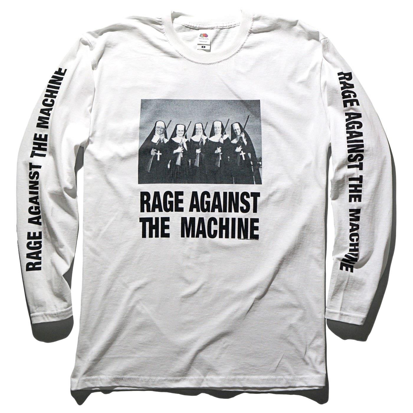 RAGE AGAINST THE MACHINE ロングスリーブTシャツ Nuns And Guns-White