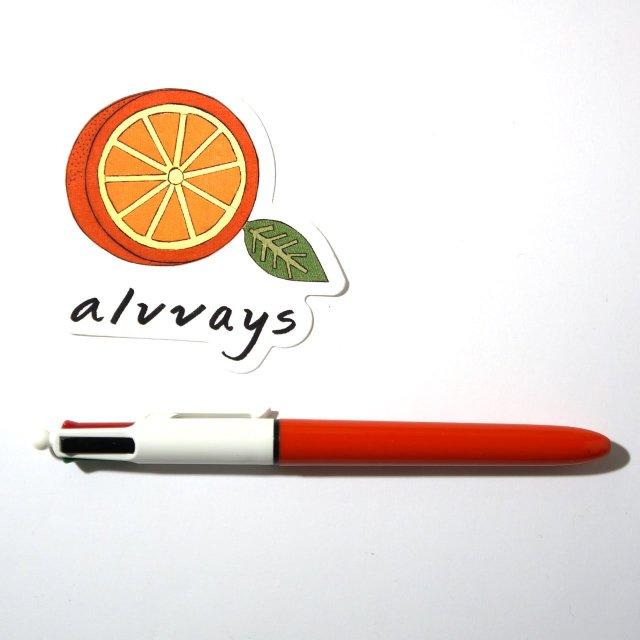 ALVVAYS(オールウェイズ) ステッカー Half Orange