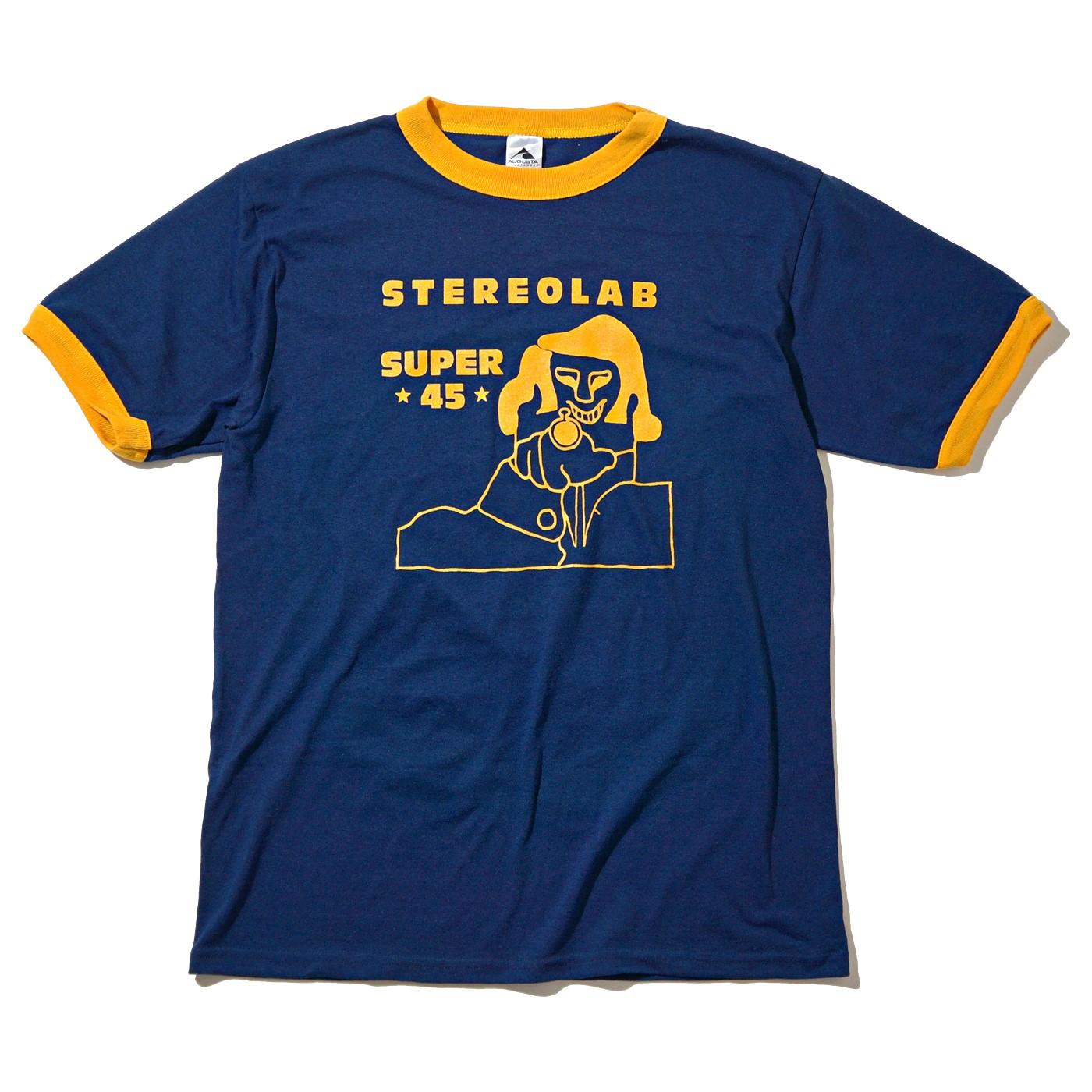 STEREOLAB Tシャツ Super 45 Ringer Tshirt-Navy