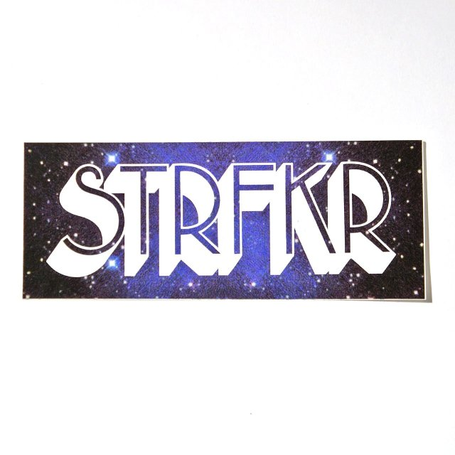 STRFKR ステッカー Being No One, Going Nowhere