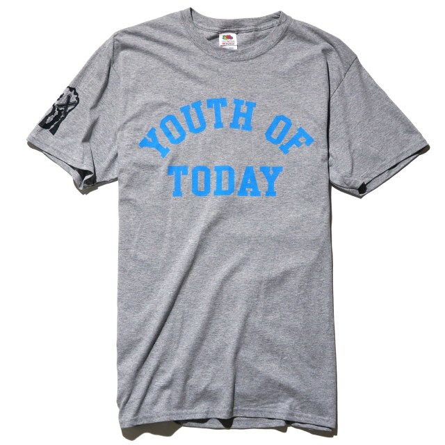 Youth Of Today Tシャツ Wake Up And Live - Heather Grey