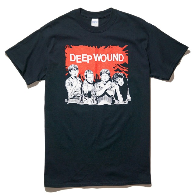 DEEP WOUND Tシャツ Brian Walsby Time To Stand-Black