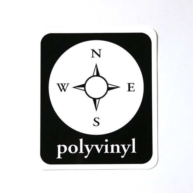 Polyvinyl Records ステッカー Campass