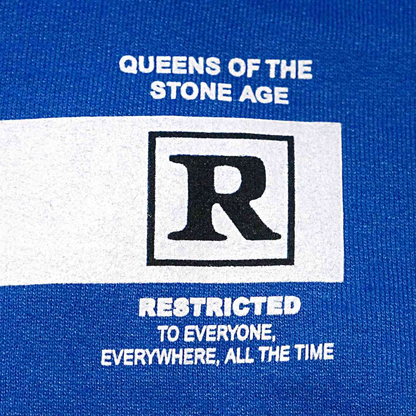QUEENS OF THE STONE AGE パーカー Rated R-Blue