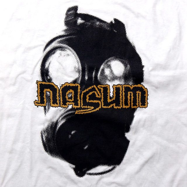 NASUM Tシャツ Gas Mask-White