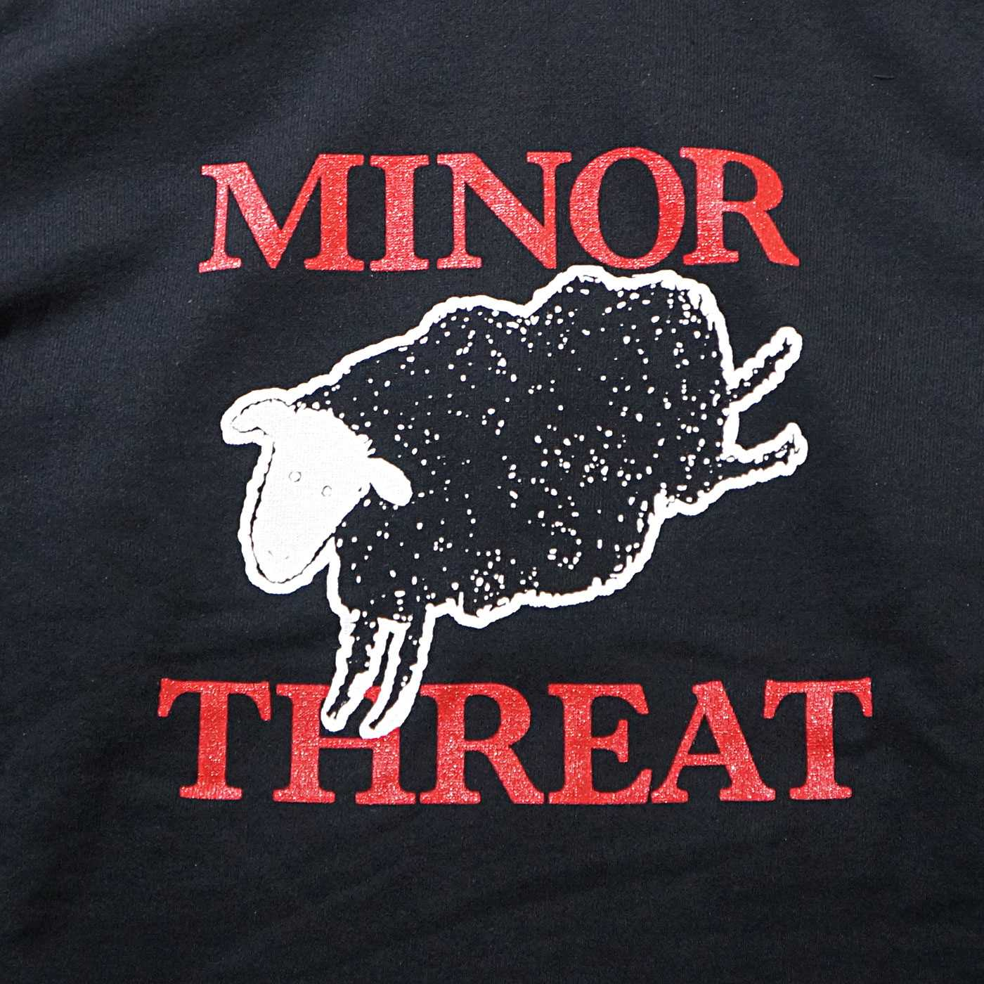 MINOR THREAT ジップアップパーカー Out Of Step-Black