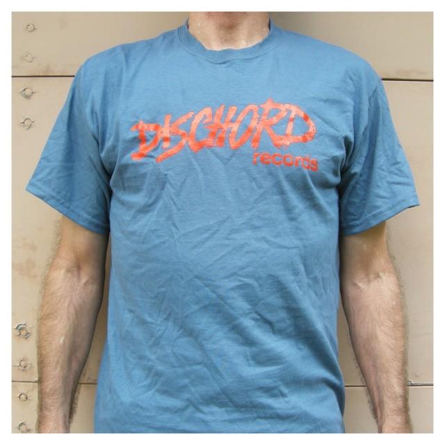 Dischord Records Tシャツ/Old Logo - インディゴブルー/レッド