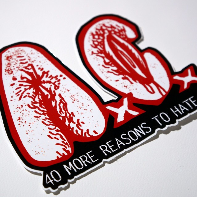 Anal Cunt ステッカー 40 More Reasons to Hate Us AxCx