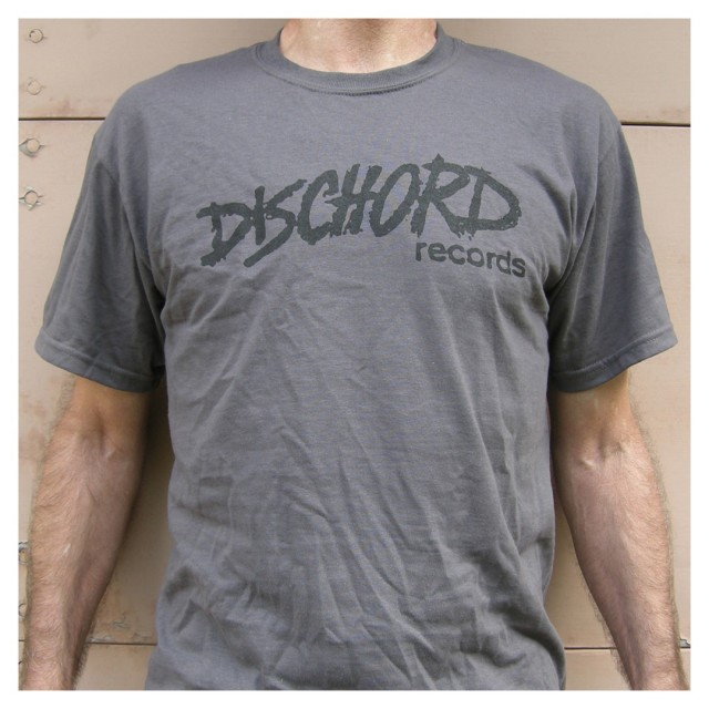 Dischord Records Tシャツ/Old Logo - Charcoal/Blk