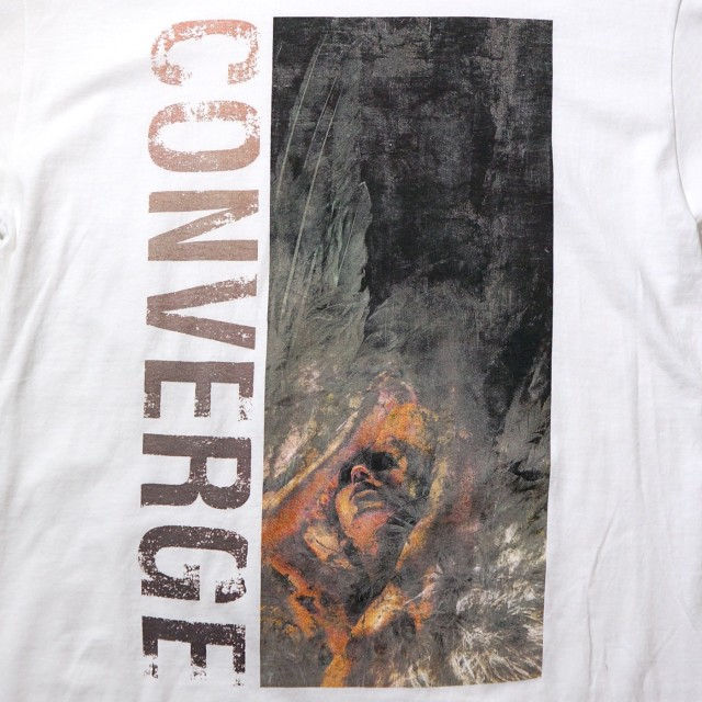 CONVERGE ロングスリーブシャツ Unloved and Weeded Out-White