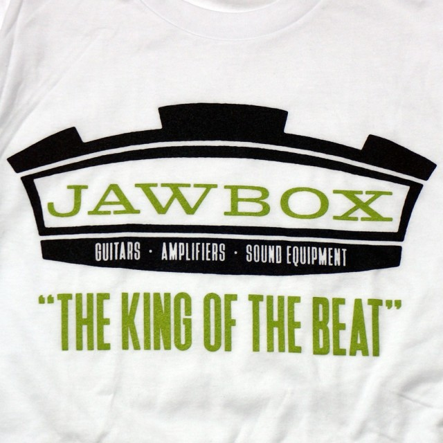 JAWBOX(ジョーボックス) Tシャツ 公式 King of the Beat-White